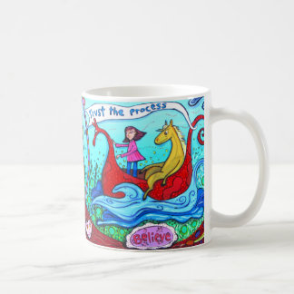 Believe + Trust The Process Coffee Mug