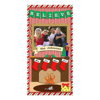 Believe • Twas Night Before Christmas • 4 Stocking Card