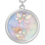 """Believe"" Two Little Fairies Necklace"