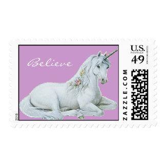 Believe Unicorn Postage