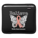 Believe - Uterine Cancer Butterfly iPad Sleeves