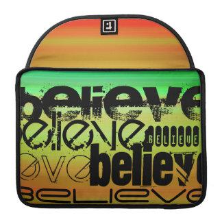 Believe; Vibrant Green, Orange, & Yellow Sleeve For MacBook Pro