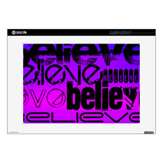 Believe; Vibrant Violet Blue and Magenta Laptop Skin