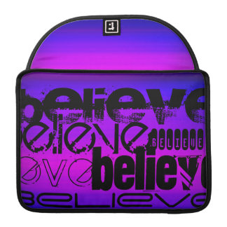 Believe; Vibrant Violet Blue and Magenta Sleeves For MacBook Pro