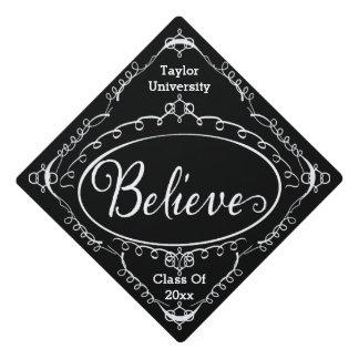 Believe Vintage Style Graduation Cap Topper