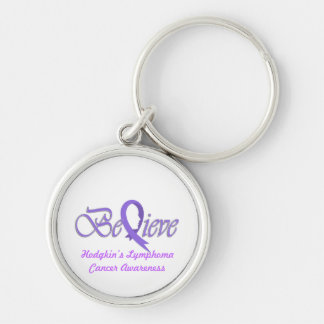"Believe ""Violet Gift Items"" Silver-Colored Round Keychain"