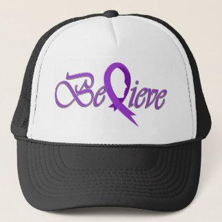 Believe (Violet  Ribbon-Trucker) Trucker Hat