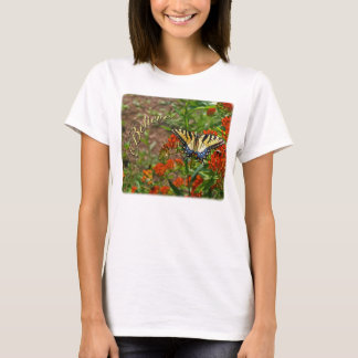 Believe w/Butterfly & Orange Flowers T-Shirt
