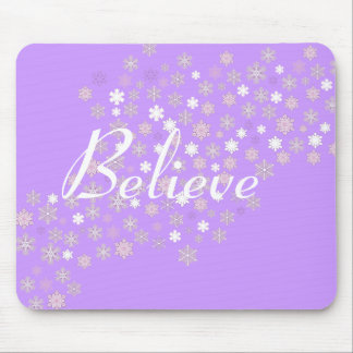Believe/Winter Snowflakes Mouse Pad