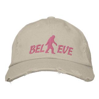 Believe with large bigfoot logo baseball cap