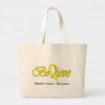 Believe (Yellow - Gift Items) Large Tote Bag