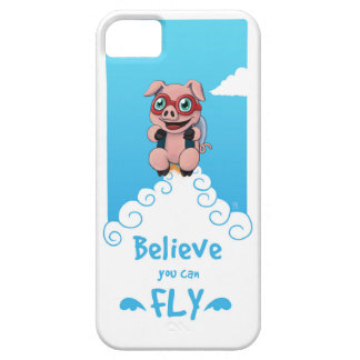 Believe You Can Fly- Flying Pig Edition iPhone 5 Cover