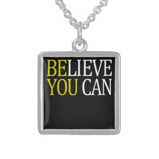 Believe You Can Sterling Silver Necklace