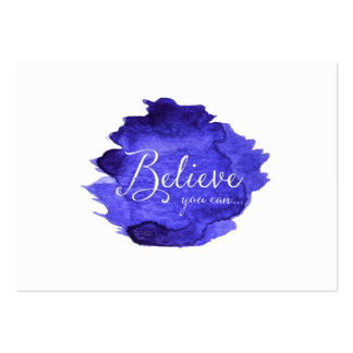 Believe You Can Watercolor Inspirational Quote Large Business Card