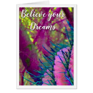 Believe Your Dreams (personalize & shadow) Card