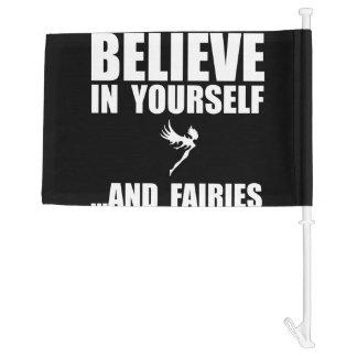 Believe Yourself Fairies Car Flag
