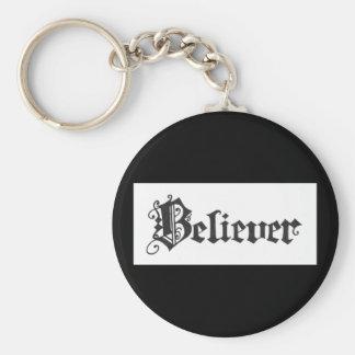 """Believer"" Calligraphy by Colleen Wallen Keychain"