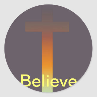 Believers dawn classic round sticker