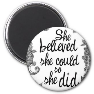 believing 2 inch round magnet