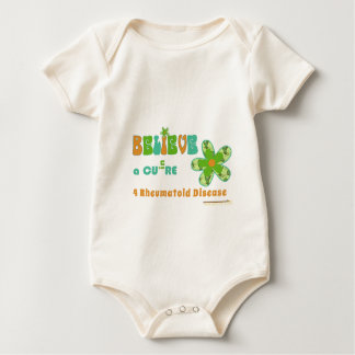 Believing in a cure for #rheum baby bodysuit