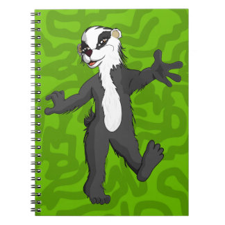 Belinda Badger Full figure Spiral Notebook