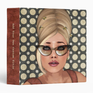 "Belinda Beehive Retro Chic 1.5"" Custom Binder"