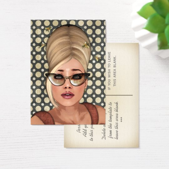 Belinda Beehive Retro Chic Profile Cards