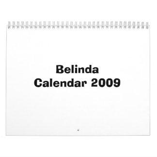Belinda Calendar 2009