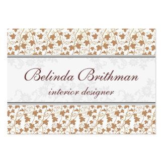 Belinda floral tarjetas de visita grandes