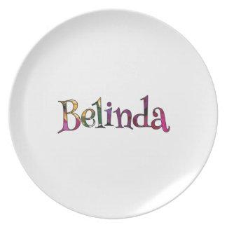 Belinda's Colorful Fun Melamine Plate