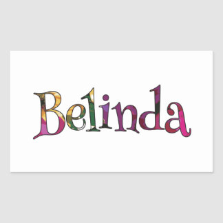 Belinda's Colorful Fun Rectangular Sticker