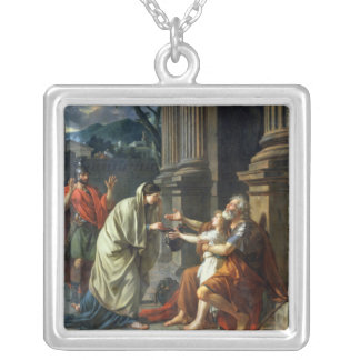 Belisarius Begging for Alms, 1781 Silver Plated Necklace