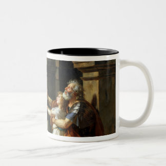 Belisarius Begging for Alms, 1781 Two-Tone Coffee Mug