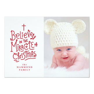 Belive in the Miracle of Christmas Holiday Card