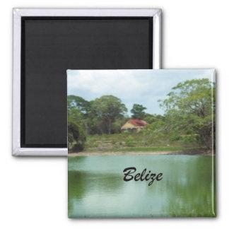 Belize 2 Inch Square Magnet