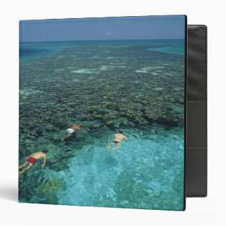 Belize, Barrier Reef, Lighthouse Reef, Blue 3 Ring Binder