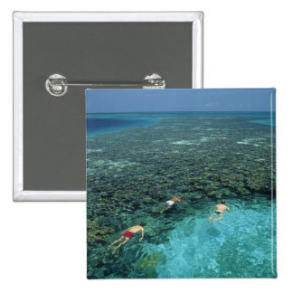 Belize, Barrier Reef, Lighthouse Reef, Blue Pinback Button