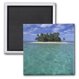 Belize, Barrier Reef, Unnamed island or cay. 2 Inch Square Magnet