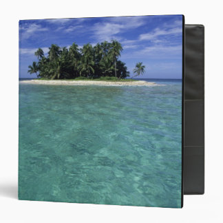 Belize, Barrier Reef, Unnamed island or cay. 3 Ring Binder