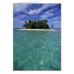 Belize, Barrier Reef, Unnamed island or cay. Greeting Cards