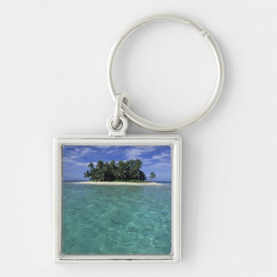 Belize, Barrier Reef, Unnamed island or cay. Keychain
