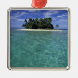 Belize, Barrier Reef, Unnamed island or cay. Ornament