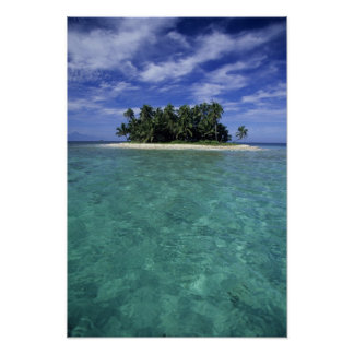 Belize, Barrier Reef, Unnamed island or cay. Poster