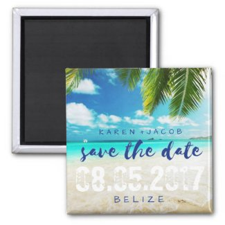 Beach Save The Date Magnets Tropical Papers