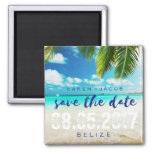 Belize Beach Destination Wedding Save the Dates Magnet
