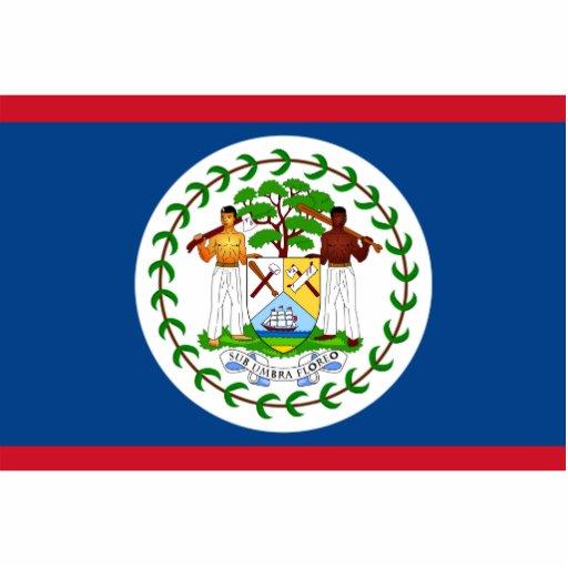 Belize - Belizean Flag Acrylic Cut Outs