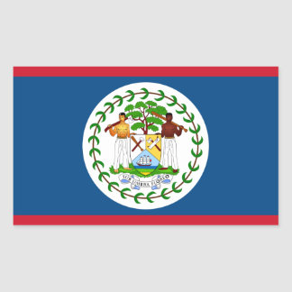 Belize/Belizean Flag Rectangular Sticker