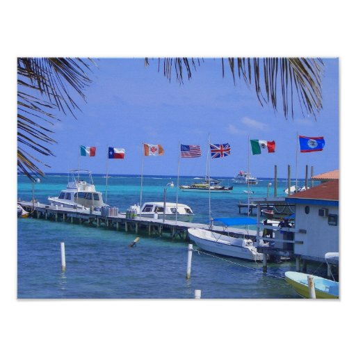 Belize Boats Posters