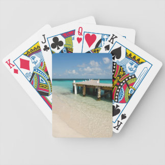 Belize, Caribbean Sea, Goff Caye. A Small Island Bicycle Playing Cards