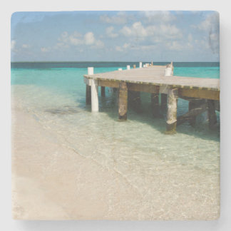 Belize, Caribbean Sea, Goff Caye. A Small Island Stone Beverage Coaster